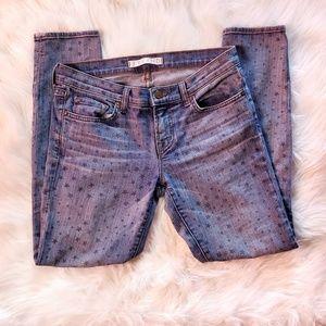 J Brand | Blue Jeans | Vintage Star Print